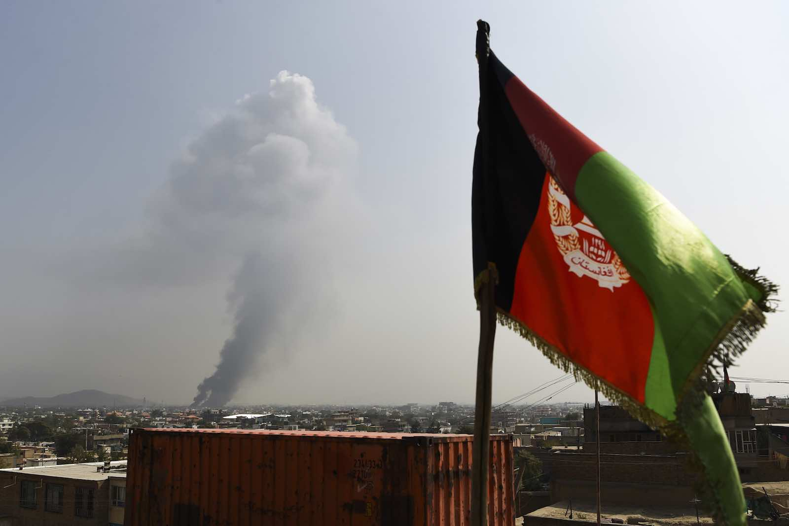 Smoke over Kabul this month after a massive explosion the night before officials said killed at least 16 people (Photo: Wakil Kohsar/AFP/Getty Images)