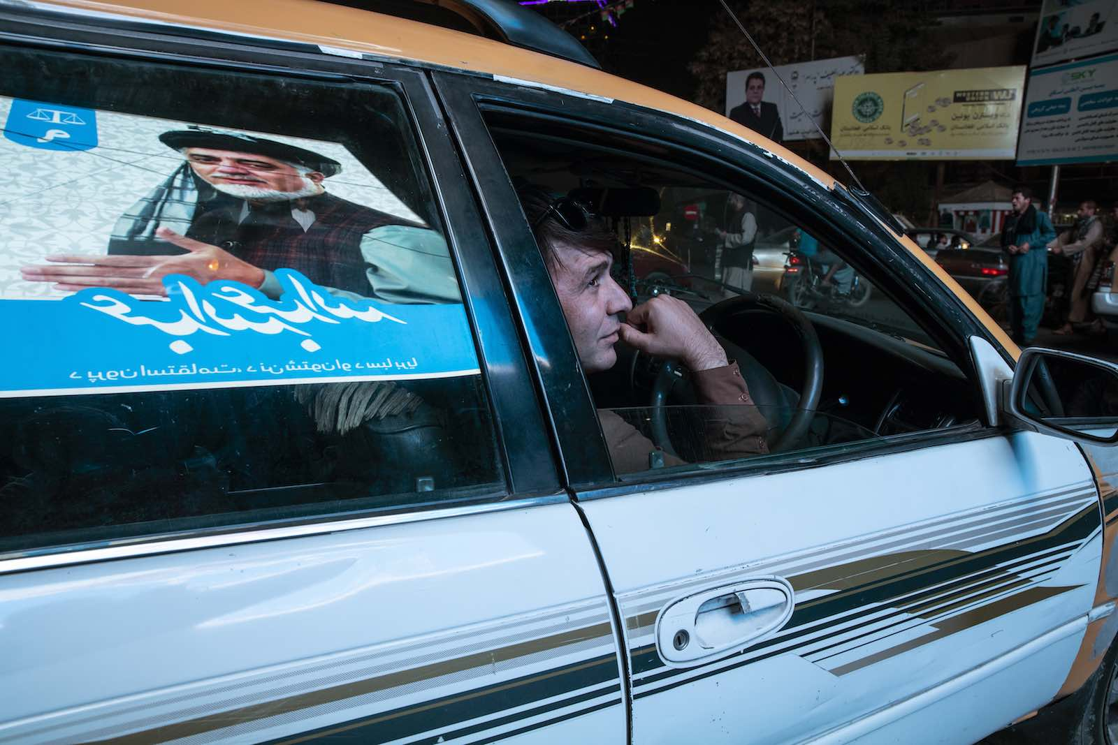 Campaign billboards in Kabul's streets in the lead-up to 28 September elections (Photo: Paula Bronstein/Getty Images)
