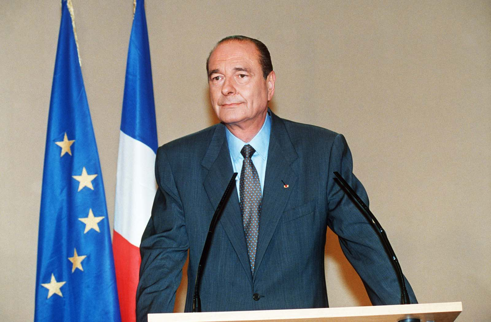 French President Jacques Chirac in June 1995 (Photo: AFP/Getty Images)