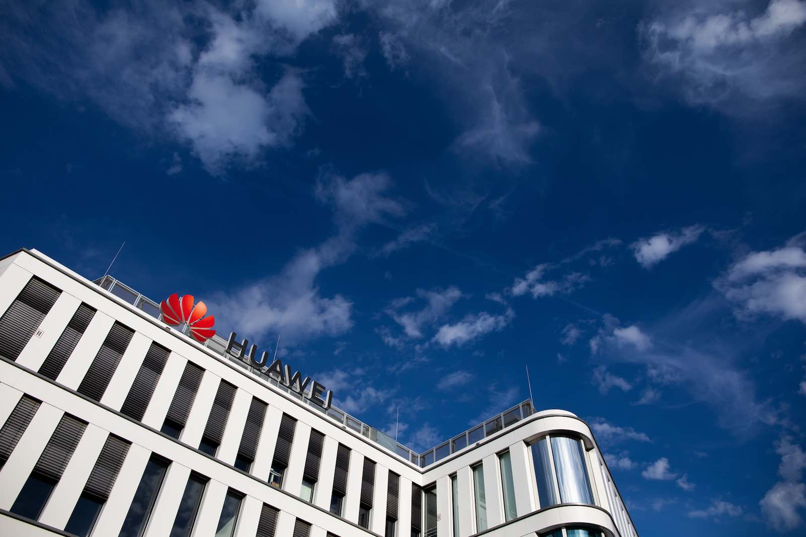 Huawei Germany headquarters in Düsseldorf (Photo: Rolf Vennenbernd/Picture Alliance via Getty Images)