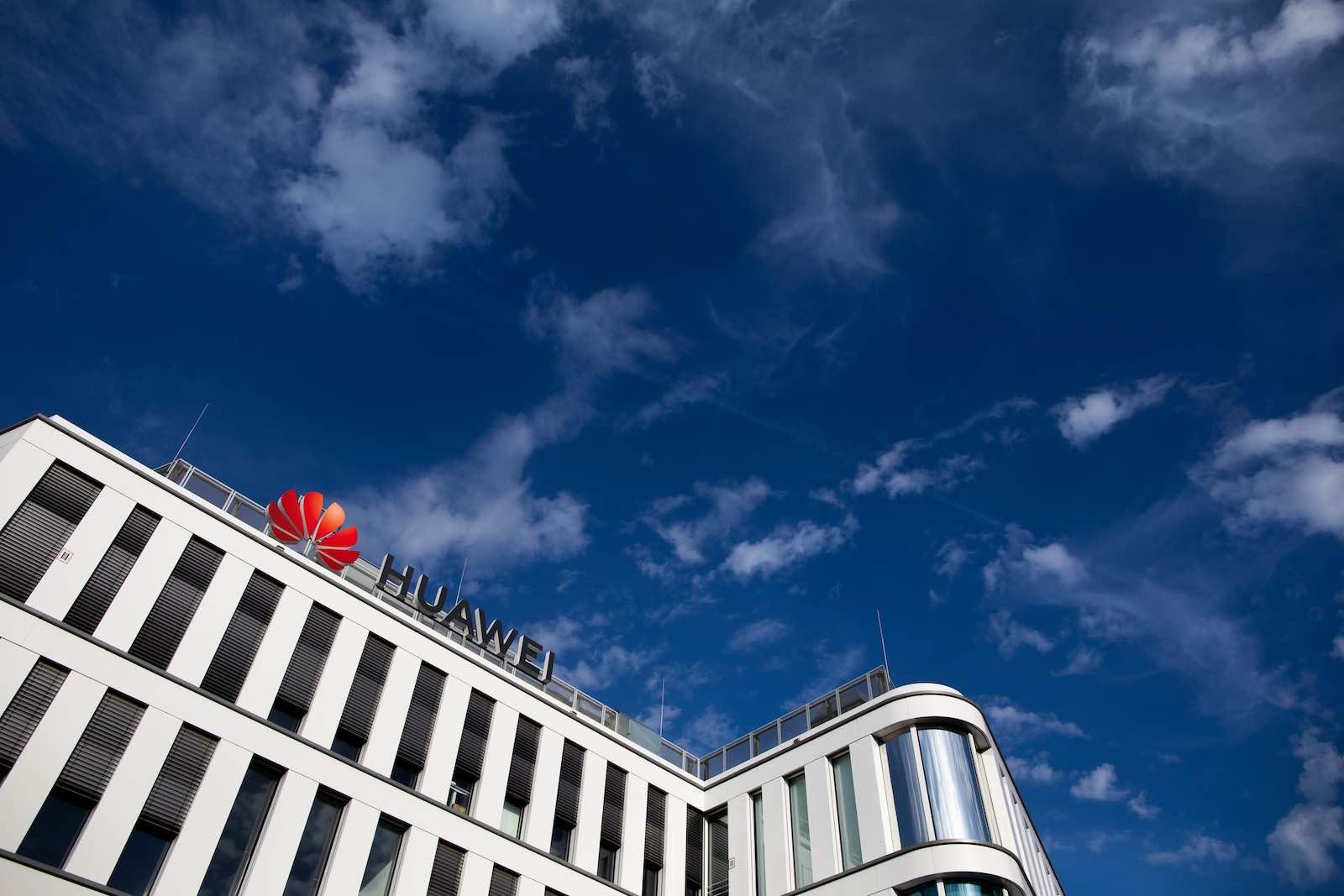 Huawei Germany headquarters in Düsseldorf (Photo: Rolf Vennenbernd/Picture Alliance via Getty Images)