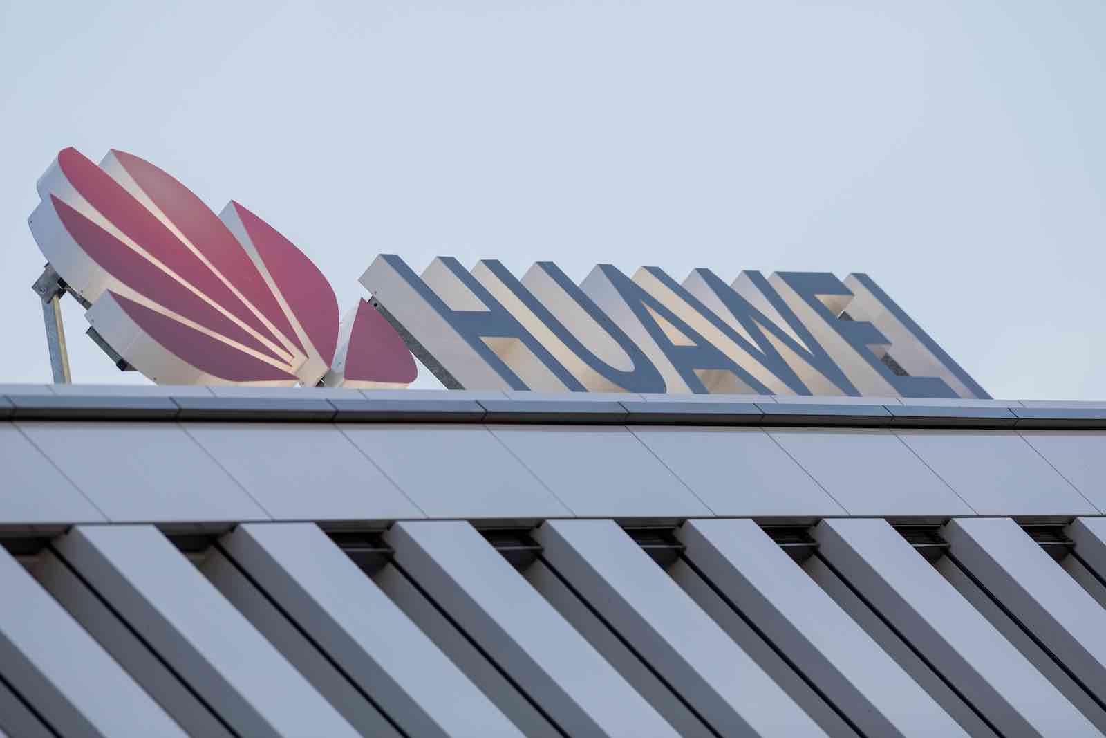 Huawei Germany headquarters in Duesseldorf (Rolf Vennenbernd via Getty Images)
