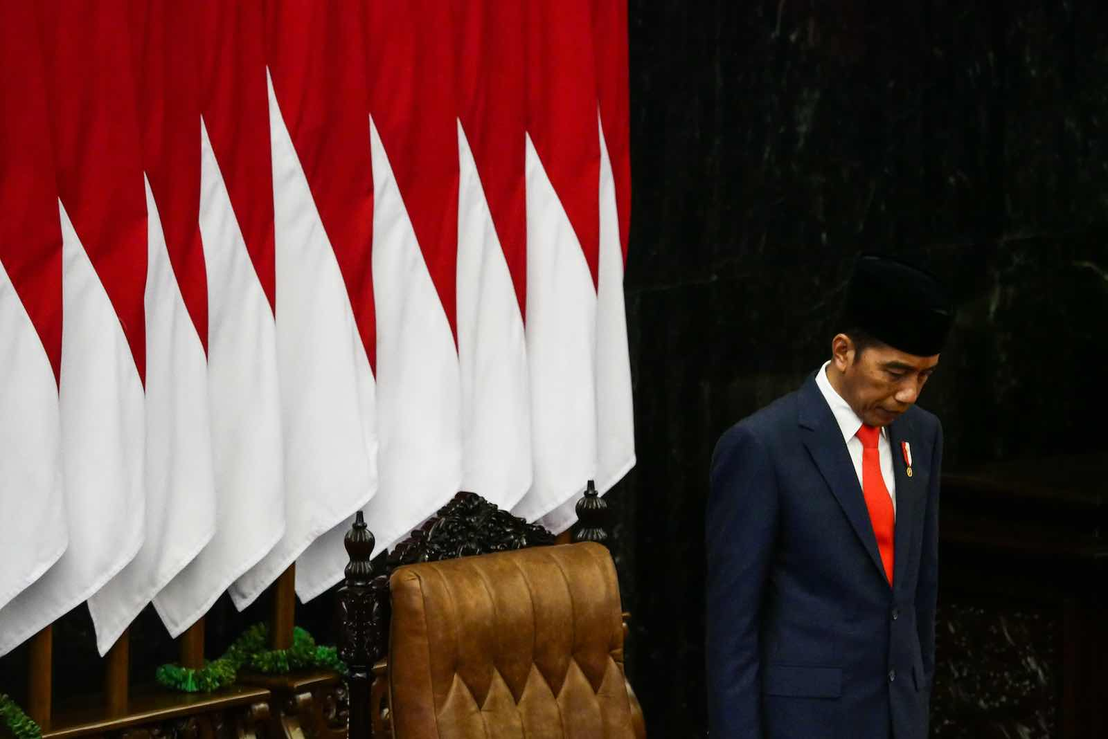 """Once dubbed """"a new hope"""" for democracy, Joko Widodo has instead presided over a period of democratic stagnation and regression, according to many (Anton Raharjo/NurPhoto via Getty Images)"""