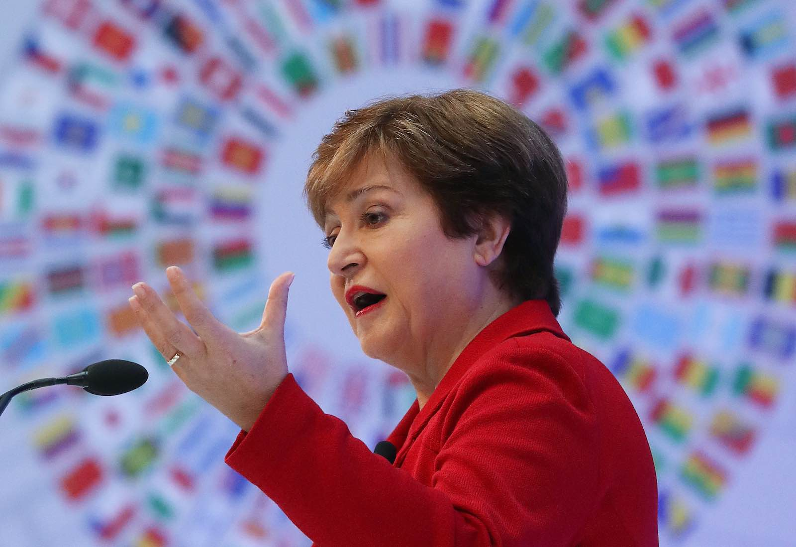 IMF Managing Director Kristalina Georgieva, Washington, 8 October 2019 (Mark Wilson/Getty Images)