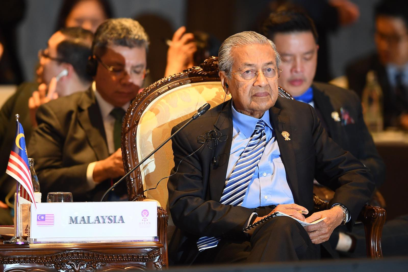 Malaysia's Prime Minister Mahathir Mohamad this month at the East Asia Summit in Bangkok (Photo: Manan Vatsyayana/AFP/Getty Images)