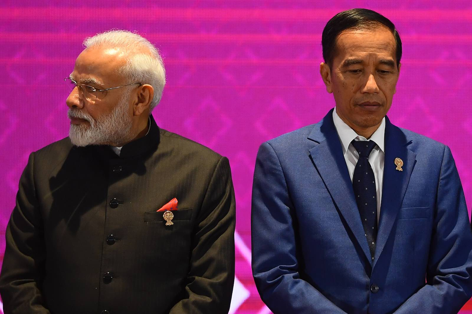 India's Prime Minister Narendra Modi and Indonesia's President Joko Widodo at the East Asia Summit in November (Photo: Manan Vatsyayna/AFP/Getty Images)