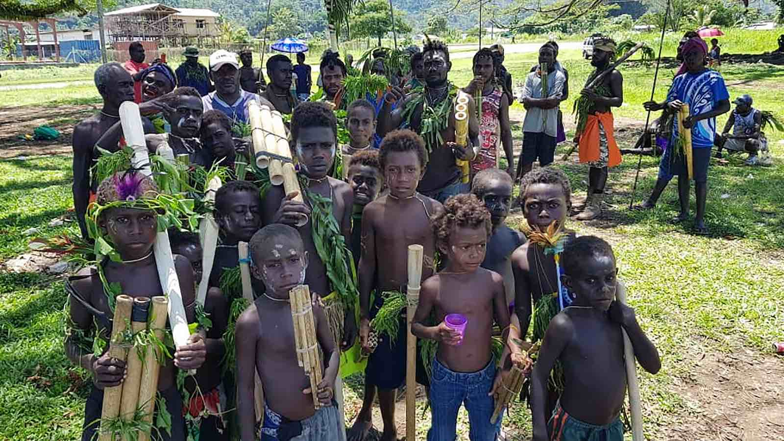 Children attend a reconciliation ceremony ahead of the independence referendum, Arawa, Bougainville, 6 November (Photo: Llane Munau/AFP via Getty Images)