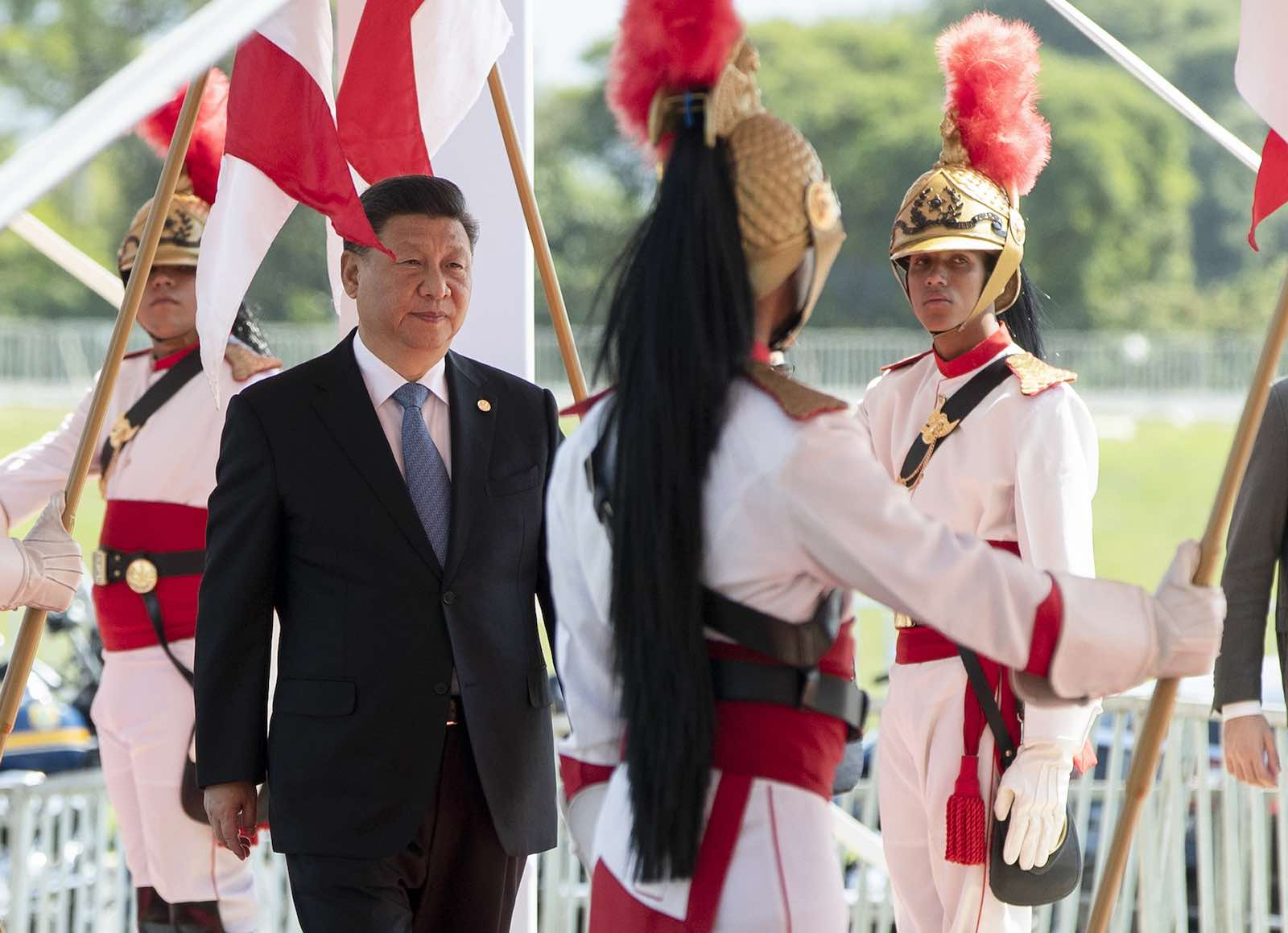 Chinese President Xi Jinping attending the BRICS summit in Brasilia, Brazil, October 2019 (Photo: Pavel Golovkin/AFP via Getty)