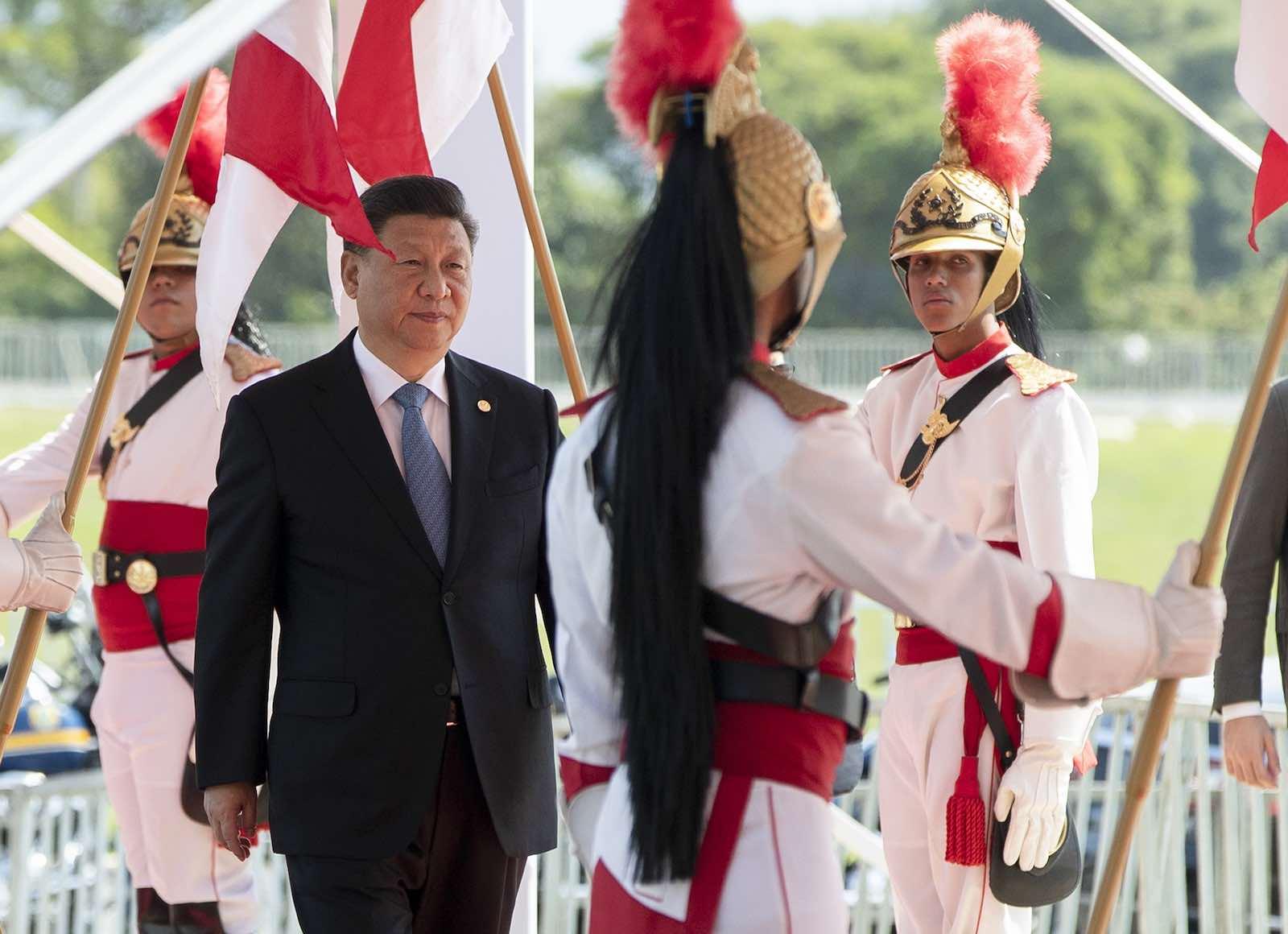 Chinese President Xi Jinping attending the BRICS summit in Brasilia, Brazil, October 2019 (Photo: Pavel Golovkin/AFP via Getty)