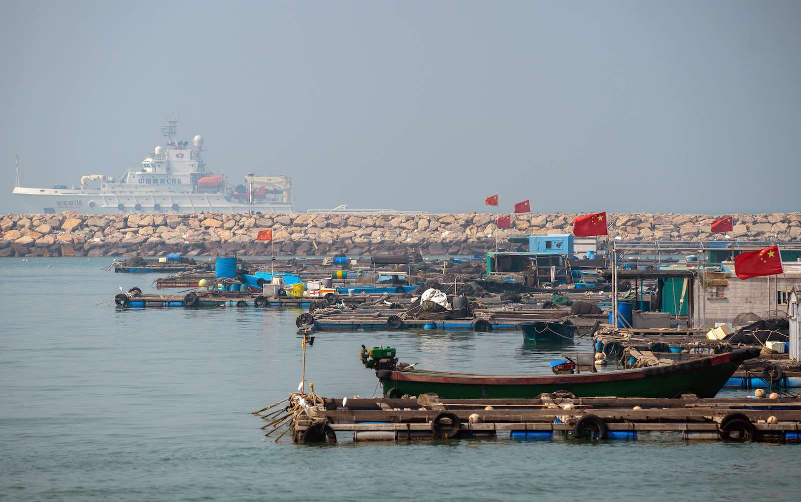 Chinese fishing vessels in port before venturing into the South China Sea (Artyom Ivanov/TASS via Getty)