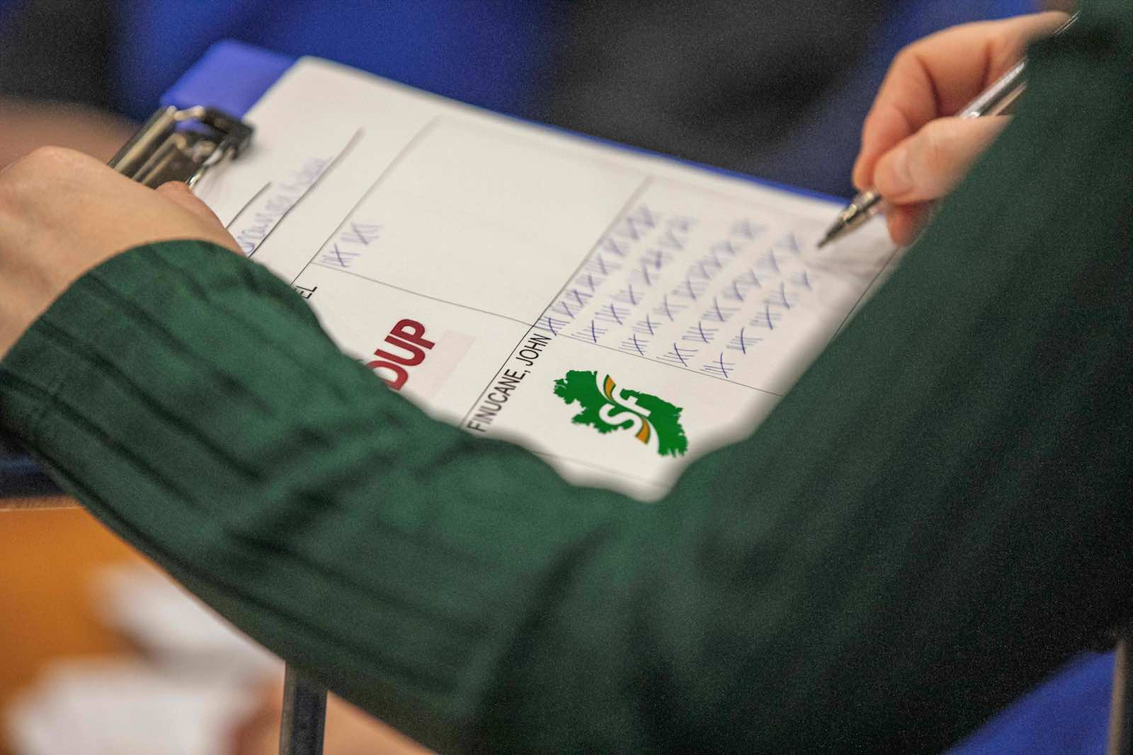 Tallying the votes in the UK election (Photo: Photo by Paul Faith/AFP/Getty Images)
