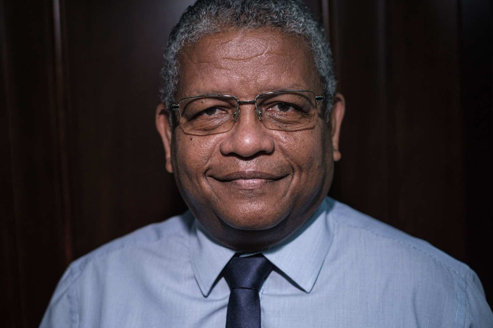 Wavel Ramkalawan, photographed here in November 2019, and now President of Seychelles (Yasuyoshi Chiba/AFP via Getty Images)
