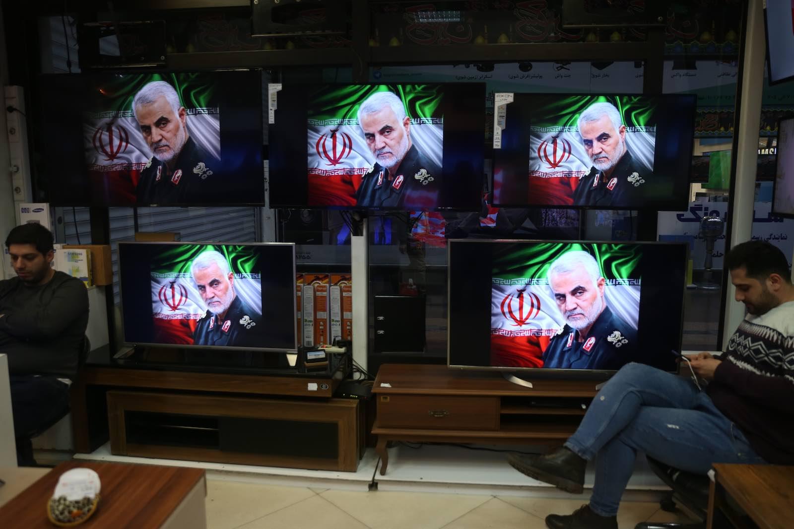 Iranian revolutionary guard General Qaseem Soleimani is lionised in Tehran (Photo: Majid Saeedi/Getty Images)