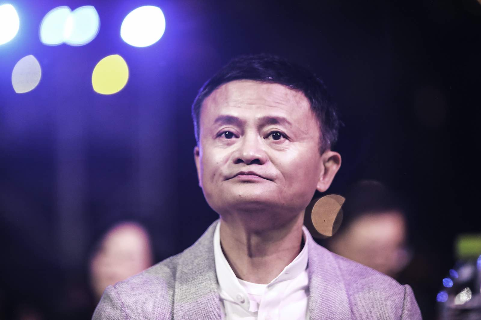 Founder of Alibaba Group Jack Ma in Sanya, China, in January 2020 at the ceremony for the Jack Ma Rural Teachers Award (Wang HE/Getty Images)
