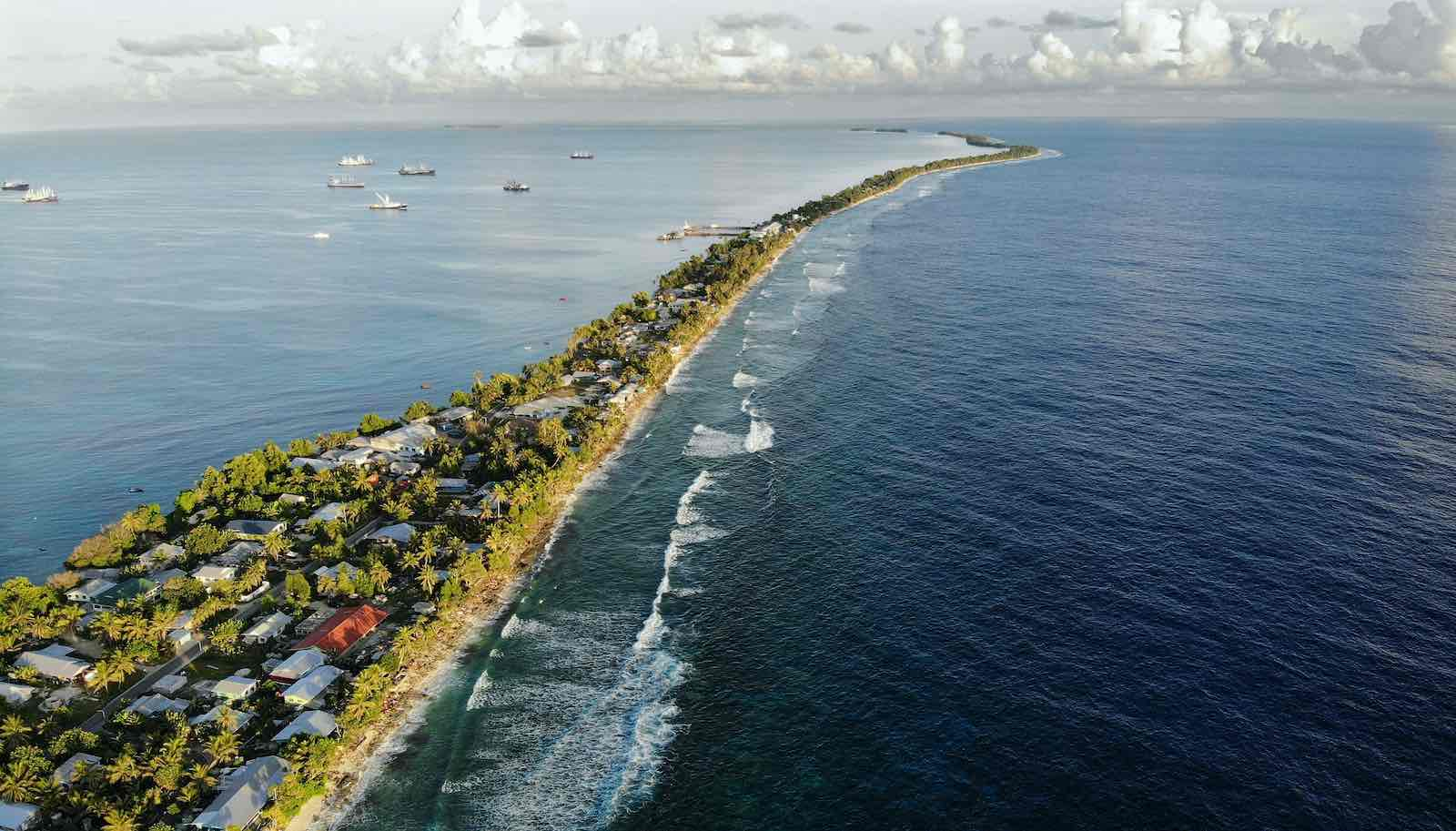 Funafuti Island in Tuvalu, which hosted the Pacific Islands Forum meeting in 2019 (Mario Tama/Getty Images)