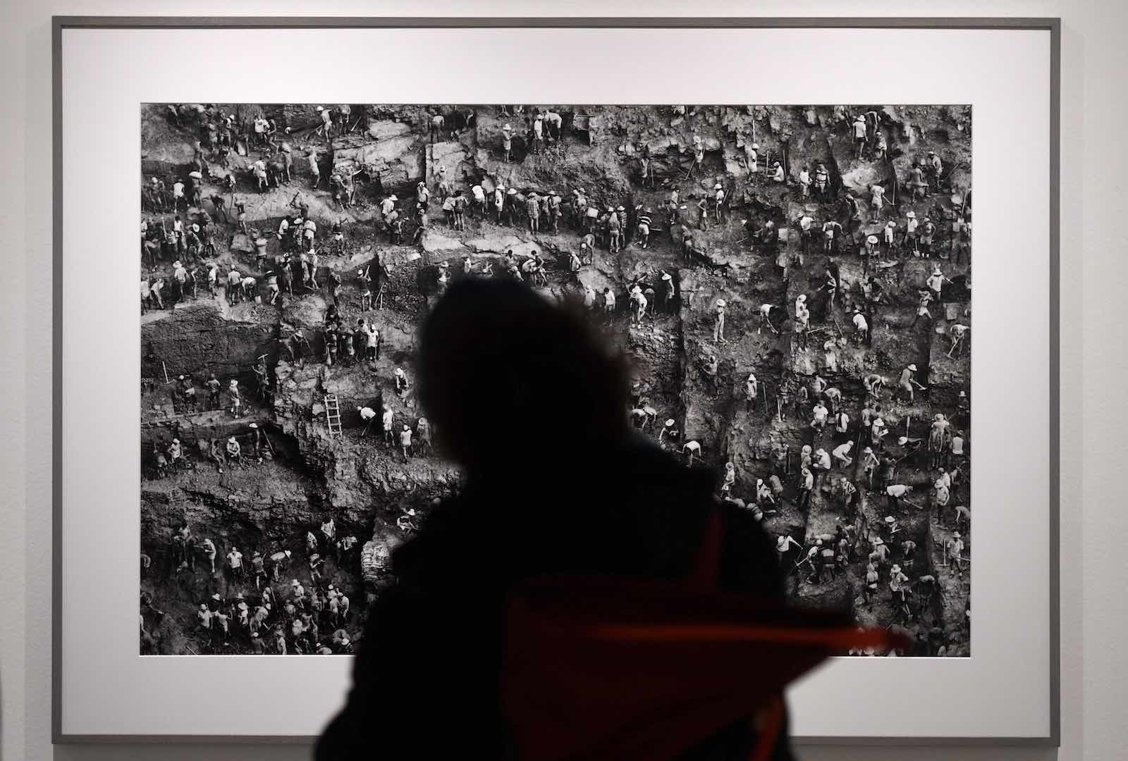 An exhibition by Brazilian photographer Sebastião Salgado at the Bene Taschen gallery in Cologne, 6 February 2020 (Ina Fassbender/AFP via Getty Images)