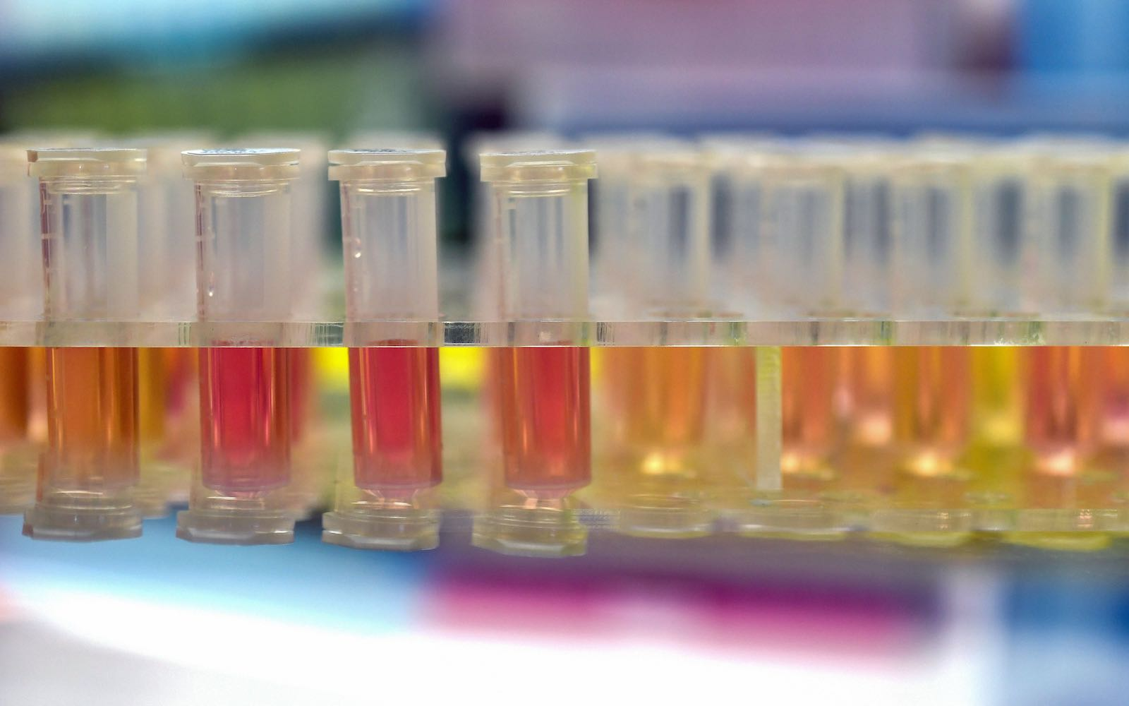 "Samples to be tested for coronavirus at the ""Fire Eye"" laboratory in Wuhan, China, 6 February (AFP via Getty Images)"