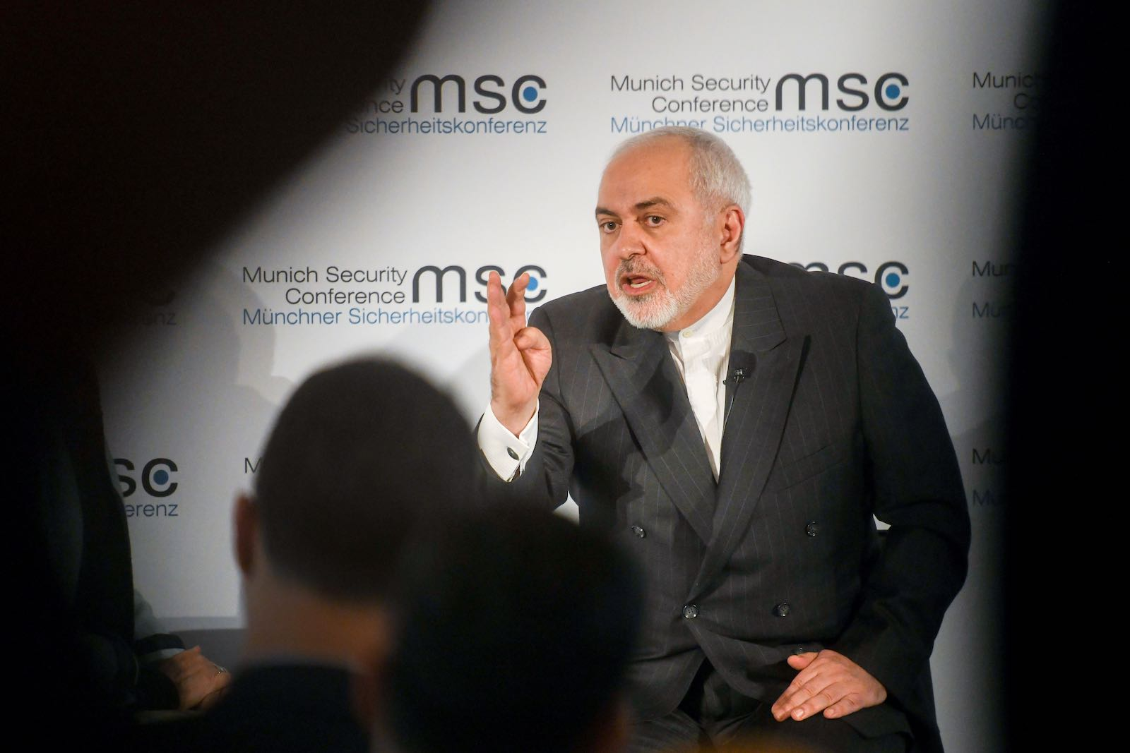 Iranian foreign minister Javad Zarif at the Munich Security Conference, 15 February (Tobias Hase/Picture Alliance via Getty Images)