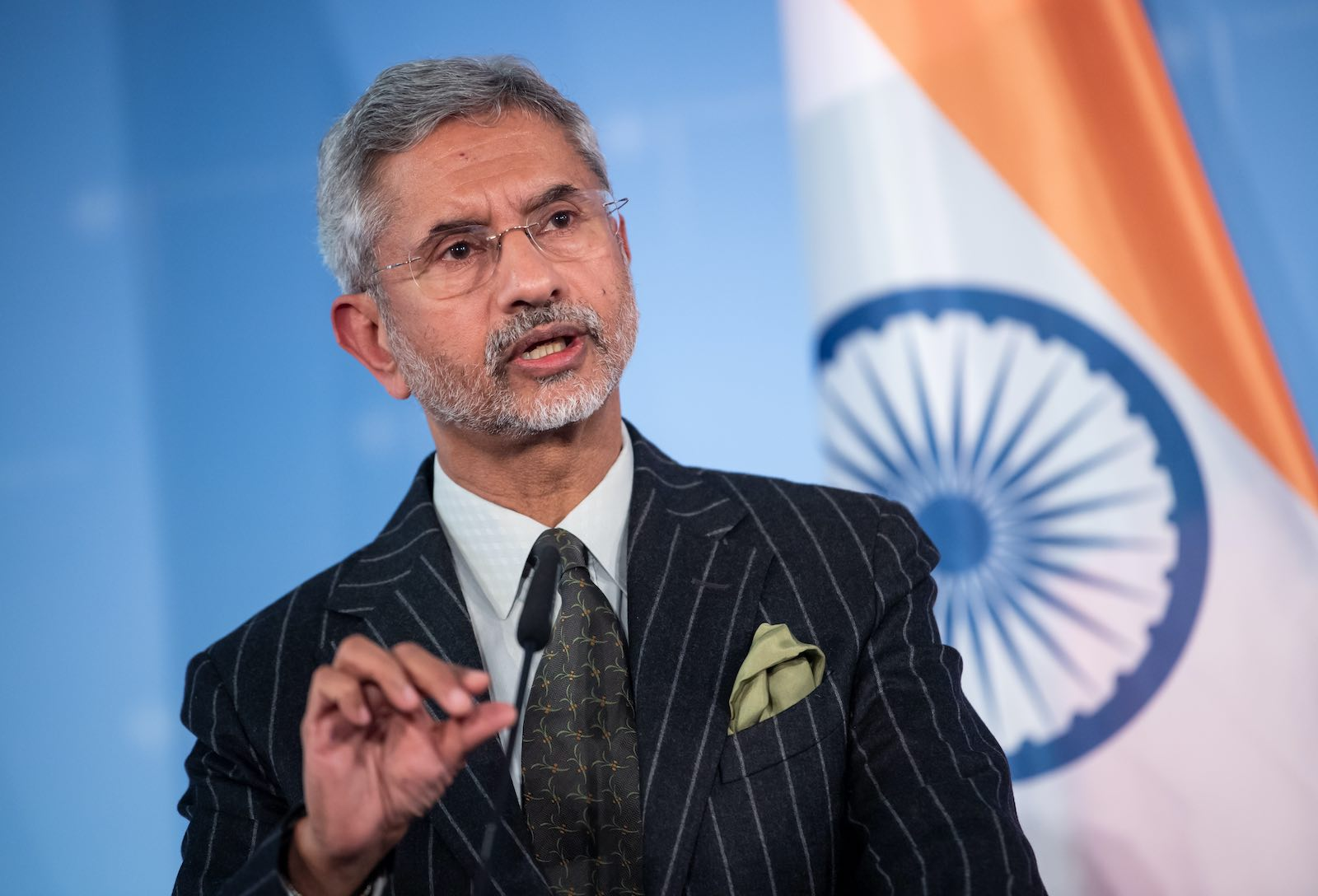 Subrahmanyam Jaishankar, Foreign Minister of India, at a press conference in Berlin in February this year (Bernd von Jutrczenka/picture alliance via Getty Images)