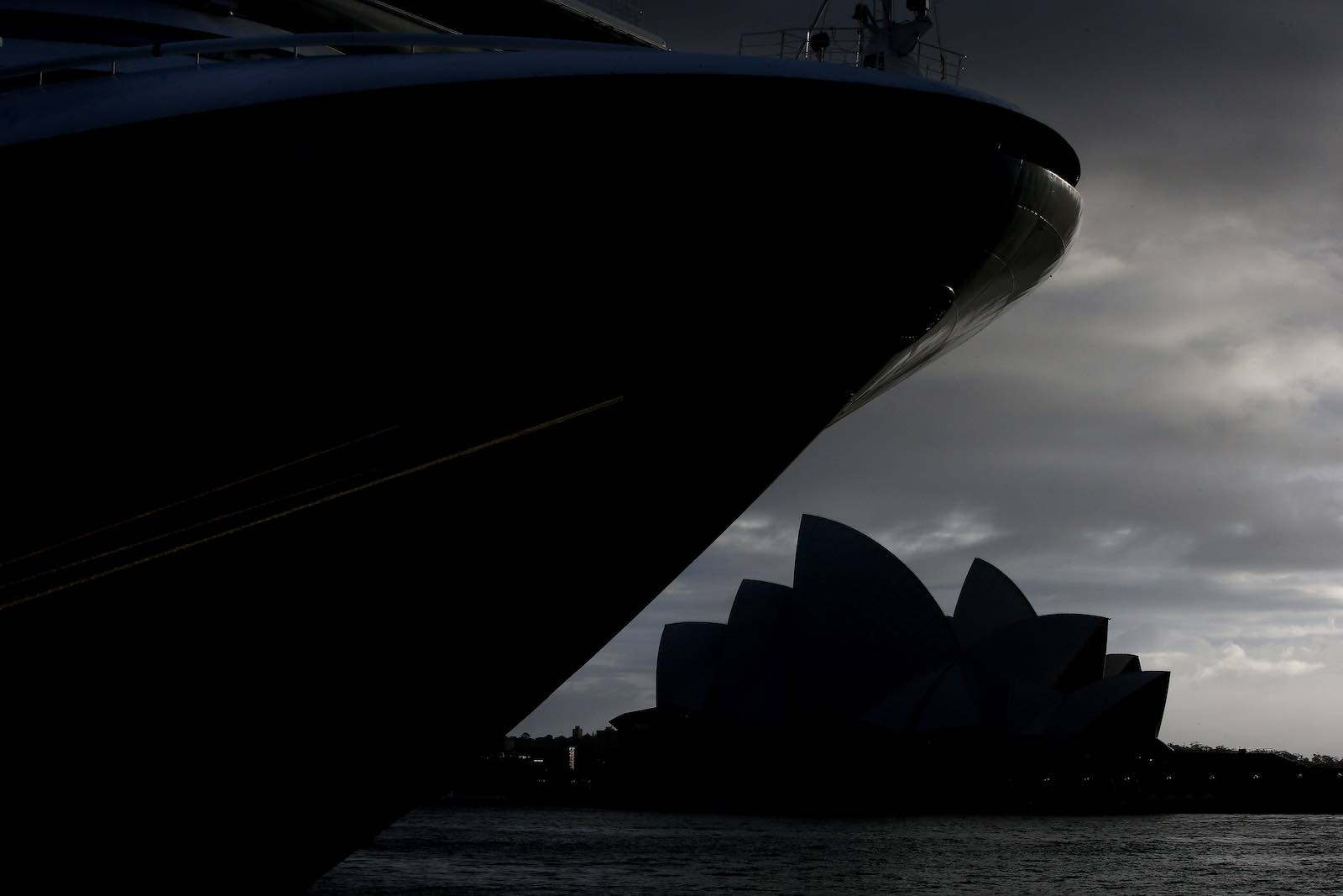 A cruise ship docks in Sydney at the weekend. Australia is one 72 countries to so far impose coronavirus travel restrictions (Photo: Lisa Maree Williams/Getty Images)