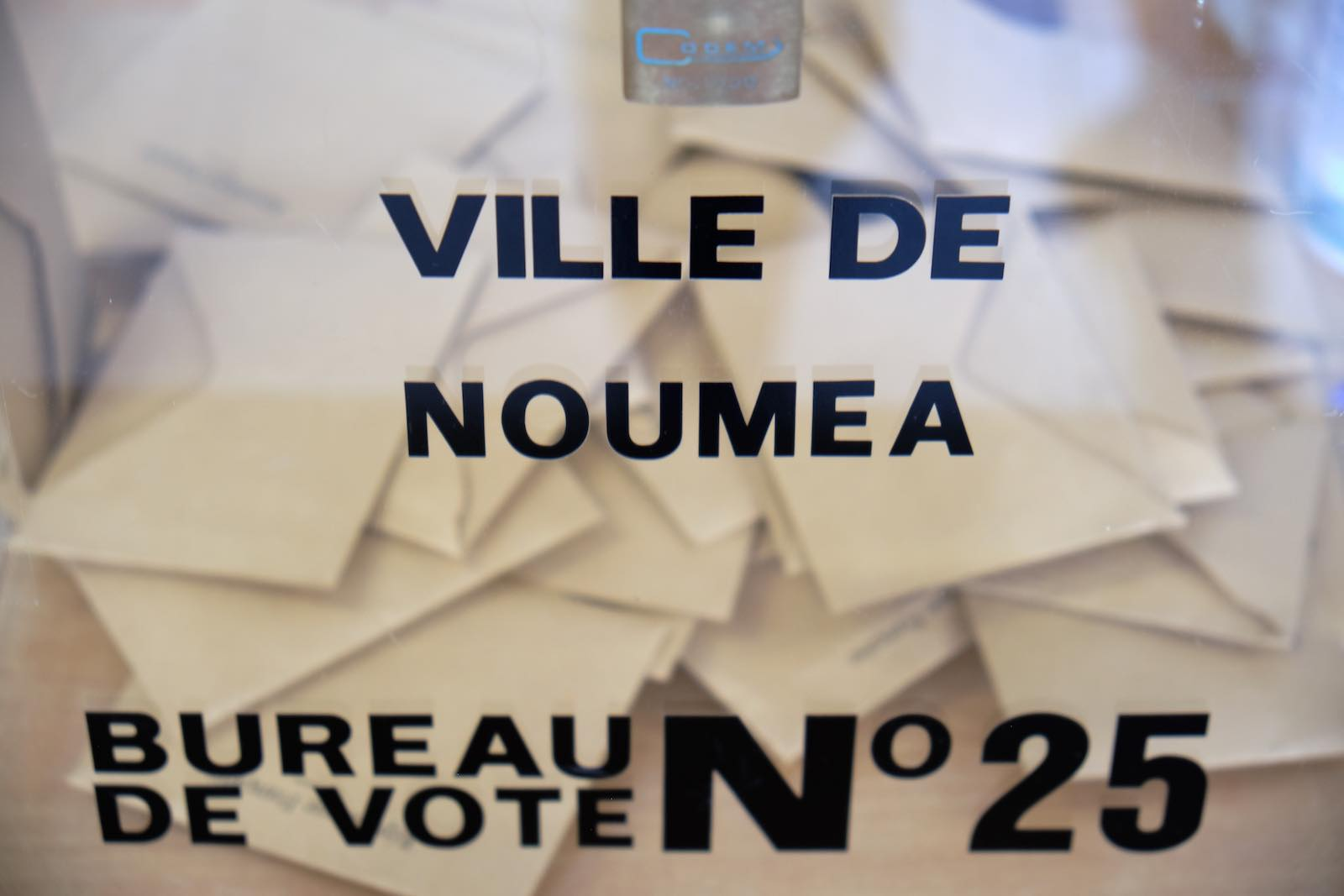 Ballots in the Magenta district of Noumea, New Caledonia during the first round of mayoral elections in France in March (Theo Rouby/AFP/Getty Images)