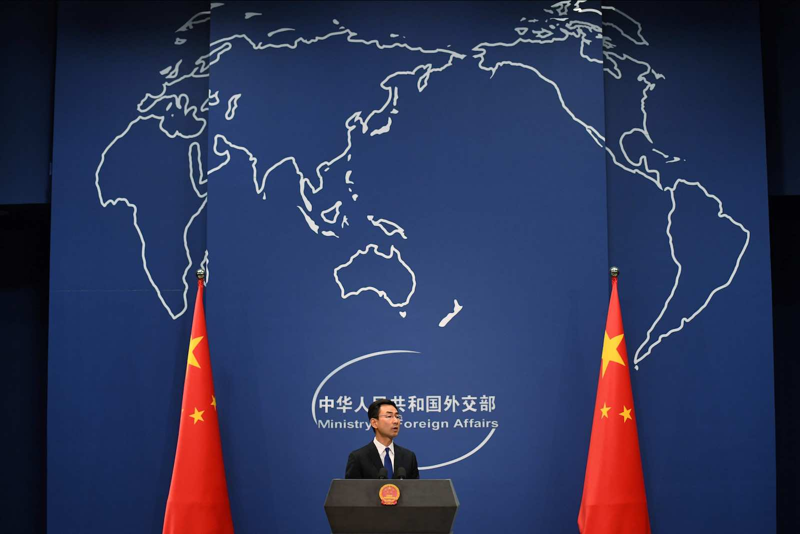 Chinese Foreign Ministry daily press briefing (Greg Barker/AFP via Getty Images)