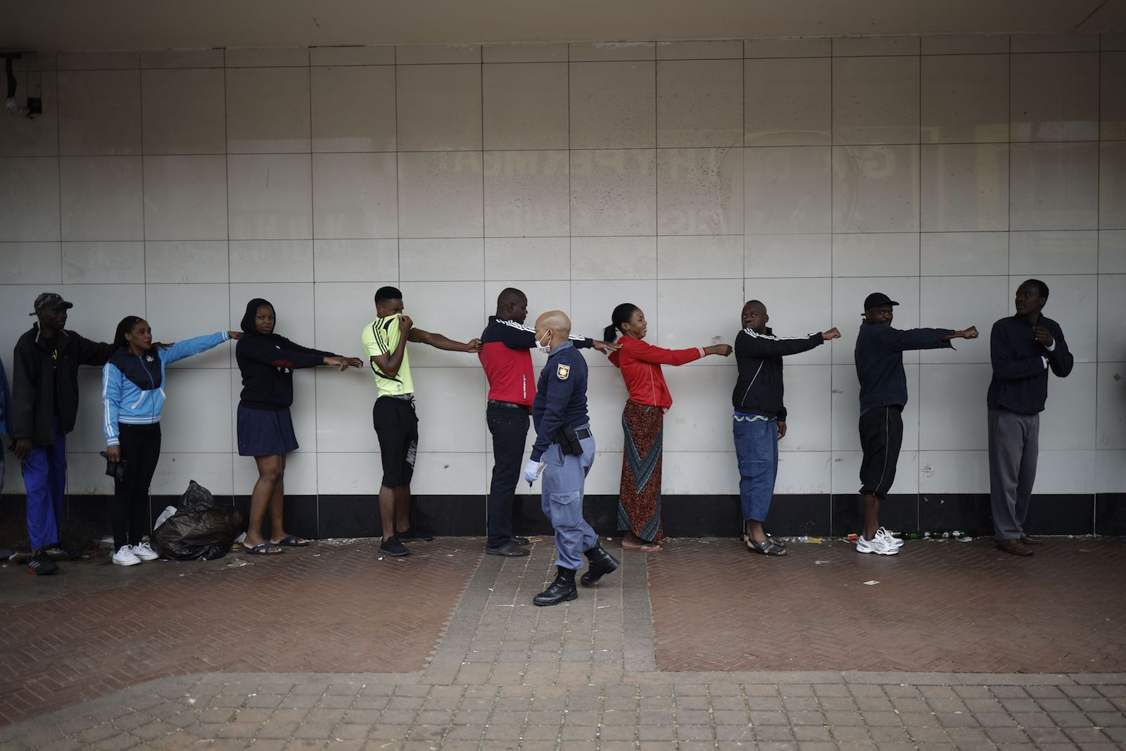 Social distancing, South Africa (Marco Longari/AFP via Getty Images)