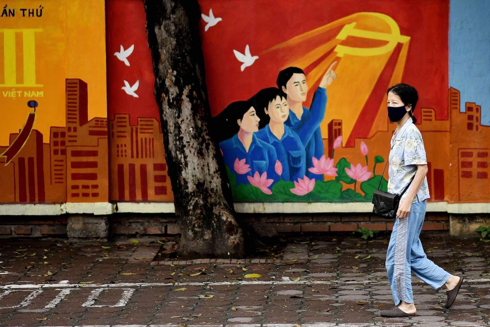 Hanoi, Vietnam, 8 April (Manan Vatsyayana/AFP/Getty Images)
