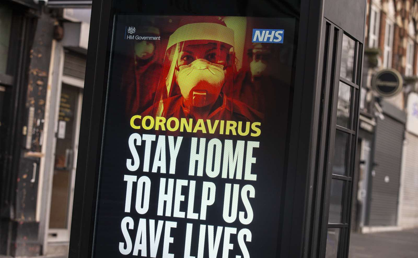 A message from the National Health Service on a billboard in Stamford Hill, London, 8 April (Hollie Adams/Getty Images)
