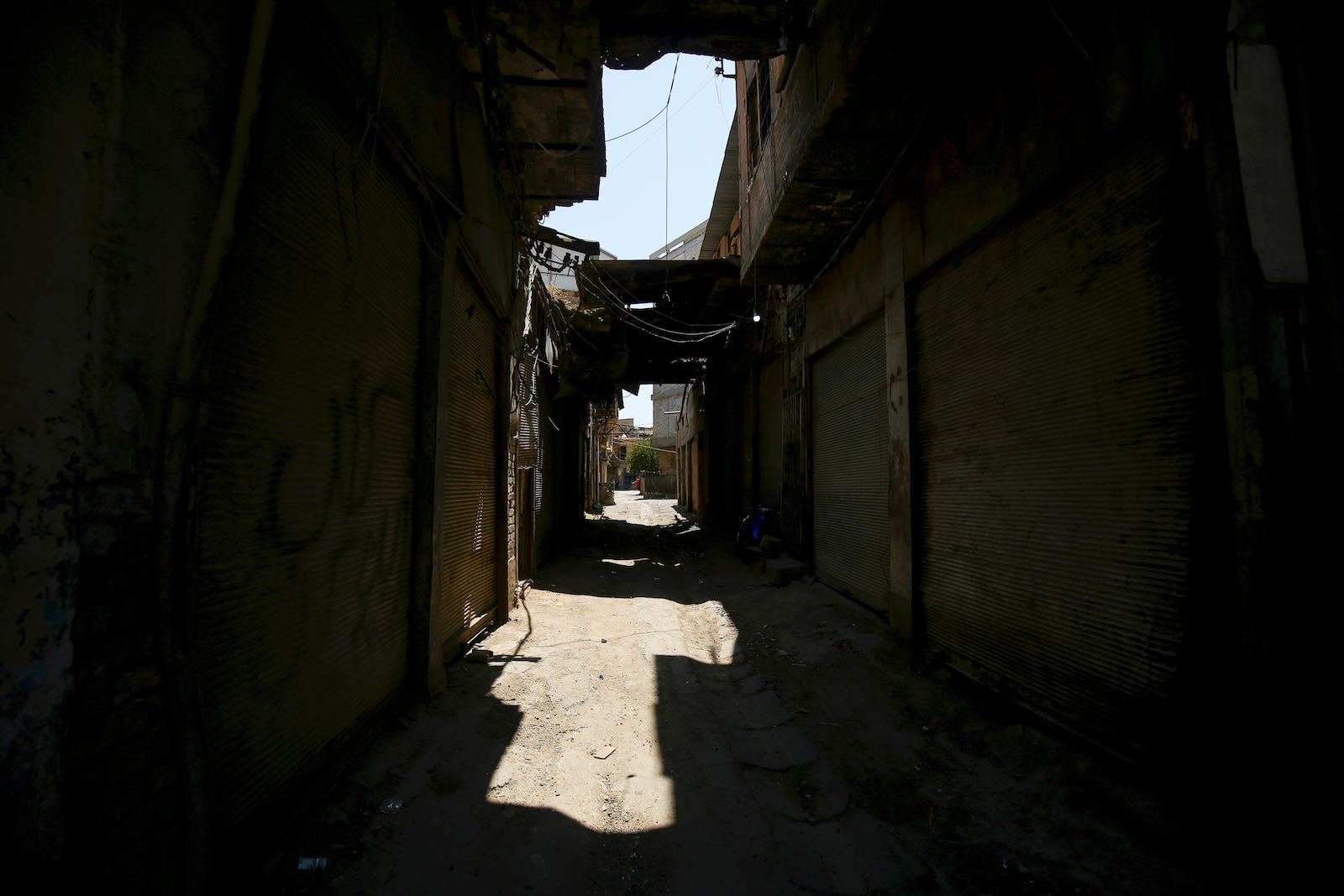 Closed shops in the Shorja market in central Baghdad earlier this month (Ahmad Al-Rubaye/AFP/Getty Images)