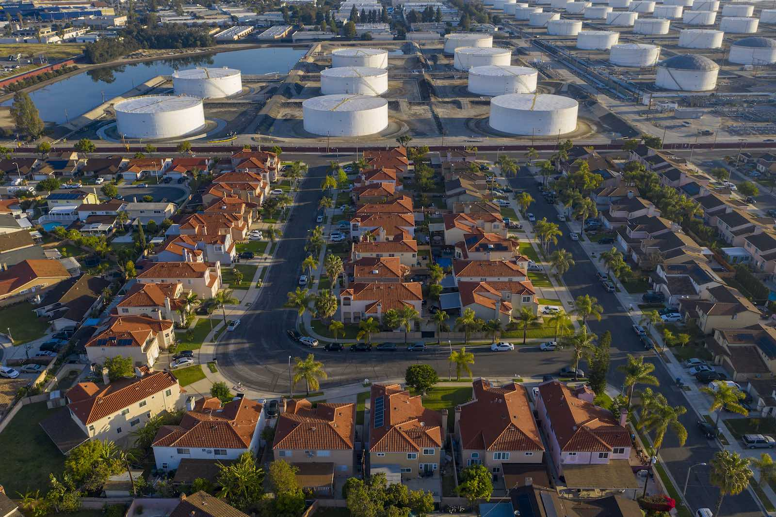 Carson, United States, and the Shell Carson Distribution Complex, which distributes fuel throughout the southern California region (David McNew/Getty Images)