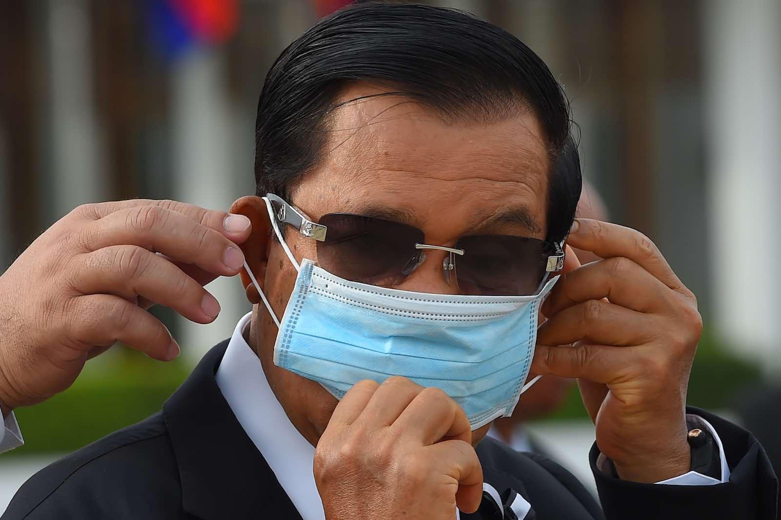 Cambodian Prime Minister Hun Sen, 11 May 2020 (Tang Chhin Sothy/AFP via Getty Images)