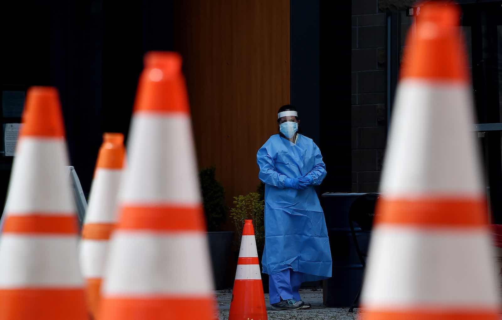 The country rated most prepared for a pandemic has nearly a quarter of all Covid-19 cases and more than 20% of the deaths (Olivier Douliery/AFP via Getty Images)