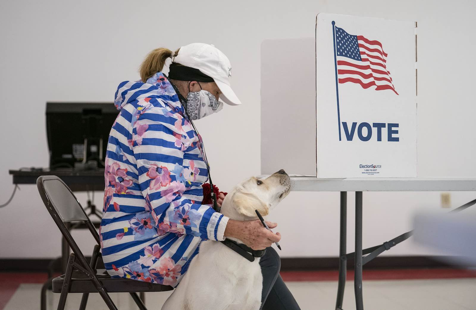 The Wisconsin primary, 7 April (Alex Kormann/Star Tribune via Getty Images)