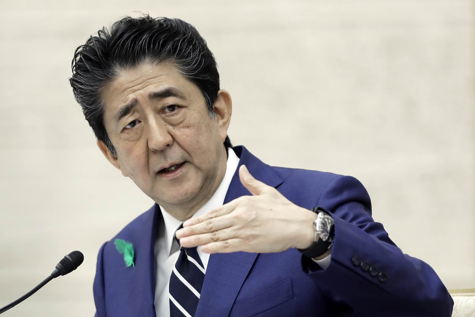 Shinzo Abe stands apart from many of his predecessors in the foreign policy arena (Kiyoshi Ota via Getty Images)