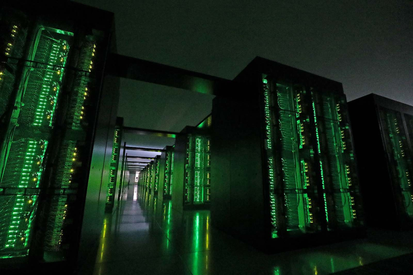 Japan's Fugaku supercomputer at the Riken Center for Computational Science in Kobe (STR via Getty Images)
