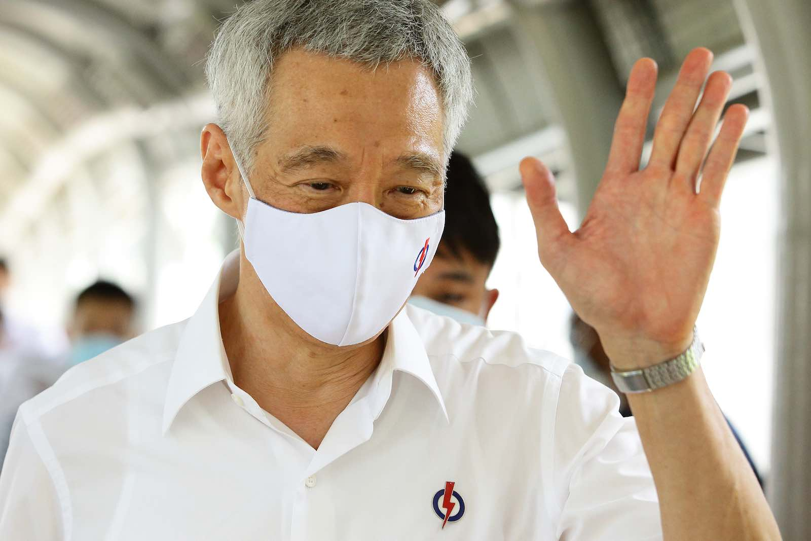 People's Action Party Secretary-General and Singapore's Prime Minister Lee Hsien Loong during the campaign (Suhaimi Abdullah/Getty Images)