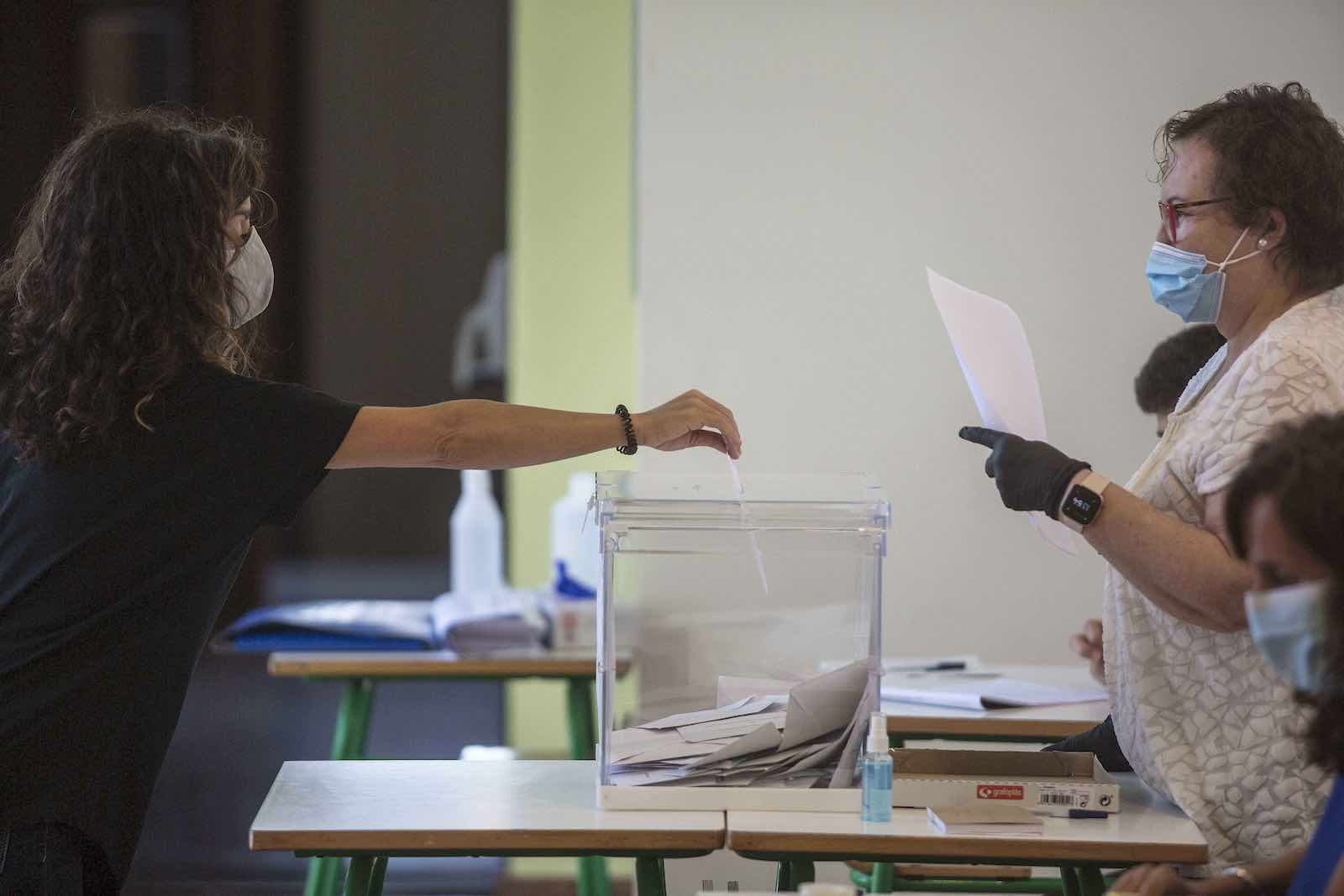 Election day in the Basque Country region of Spain in July (Robert Bonet/NurPhoto via Getty Images)