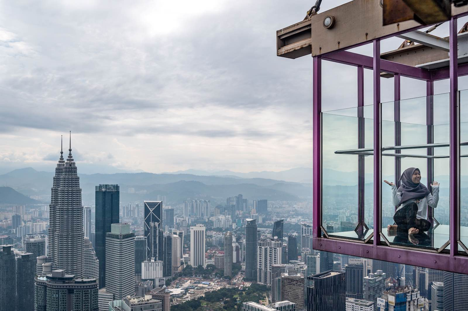 The view from Sky Box at KL Tower in Kuala Lumpur in July 2020 (Mohd Rasfan/AFP via Getty Images)