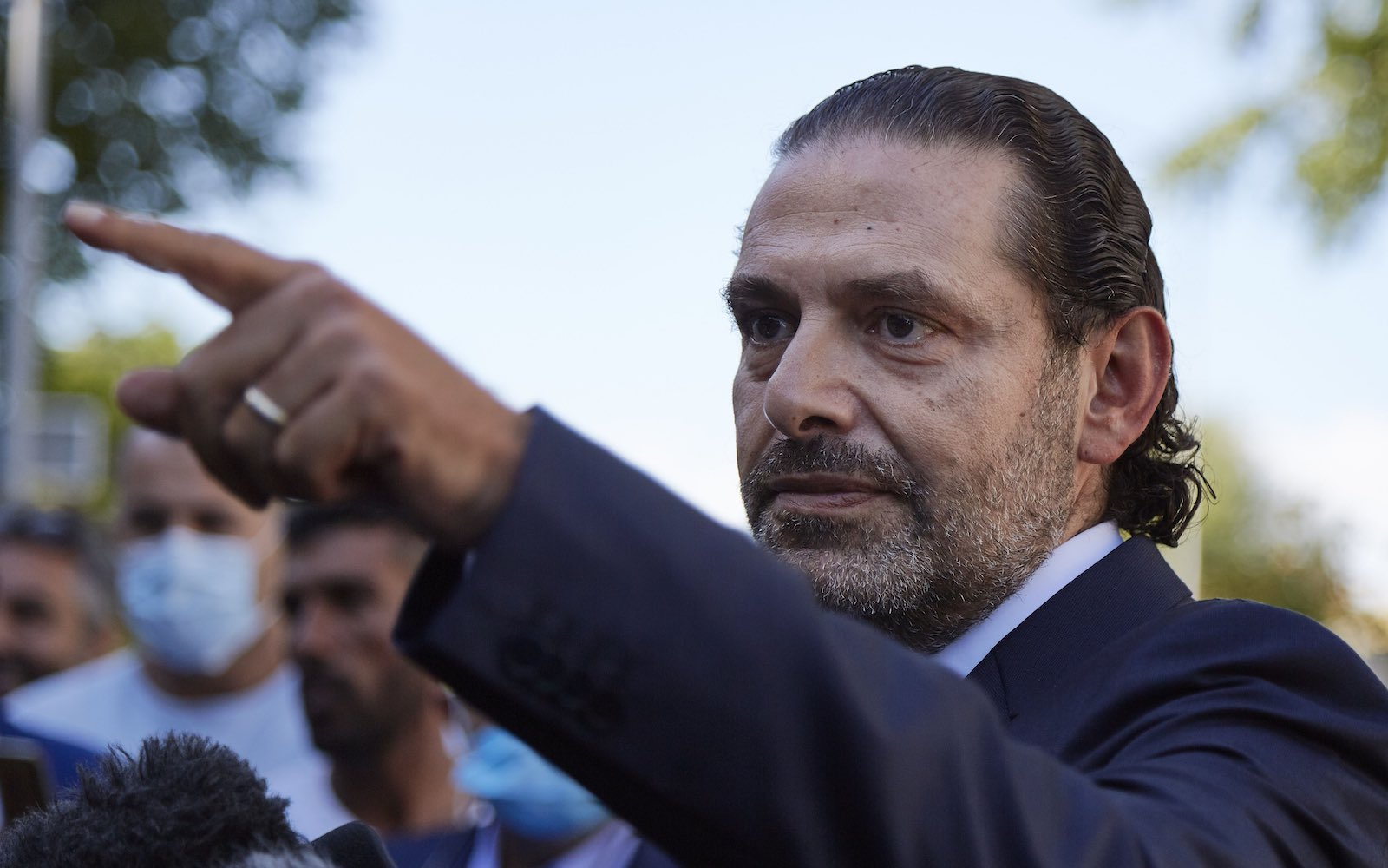 Former Lebanese Prime Minister Saad Hariri, son of Rafiq Hariri,  outside the Lebanon Tribunal, 18 August 2020 in The Hague (Pierre Crom/Getty Images)