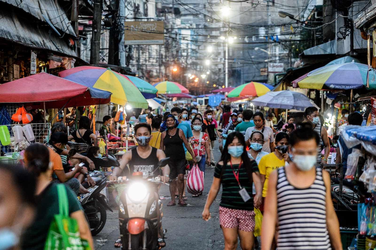 A public market in Manila, 23 August 2020 (Lisa Marie David/NurPhoto via Getty Images)