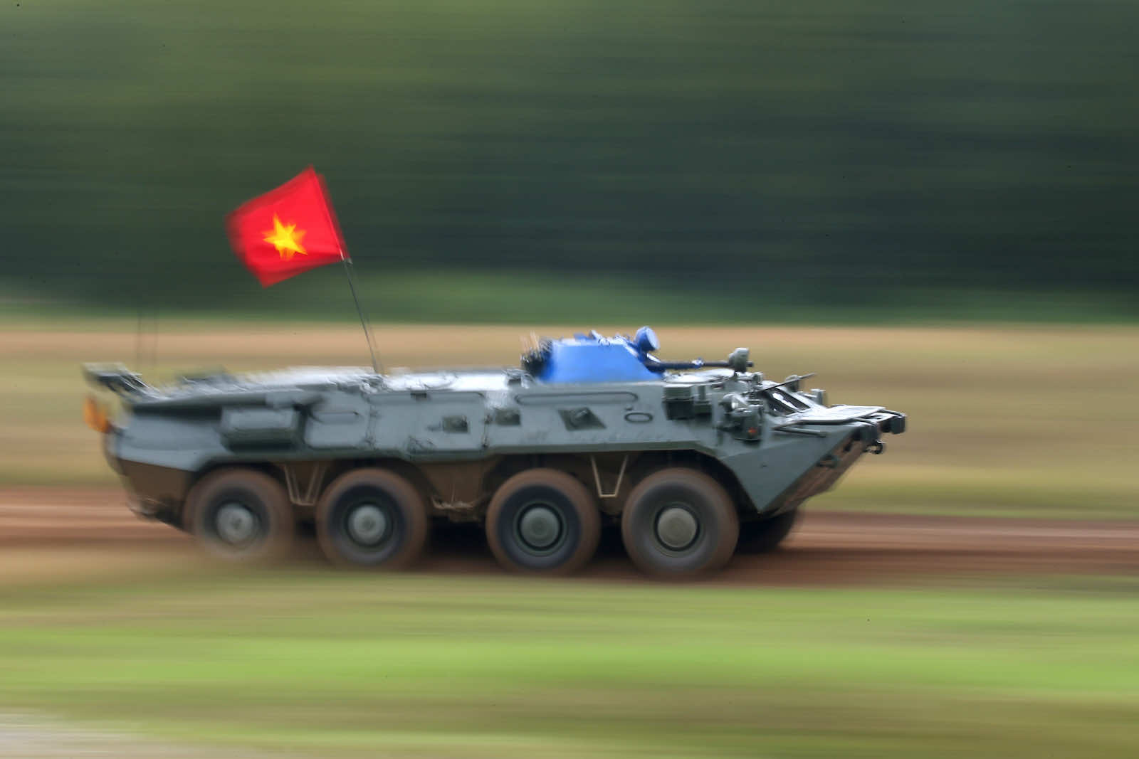 Vietnam's RKhM-4 NBC reconnaissance vehicle at the 2020 International Army Games, at Pesochnoye, Russia (Vladimir Smirnov\TASS via Getty Images)