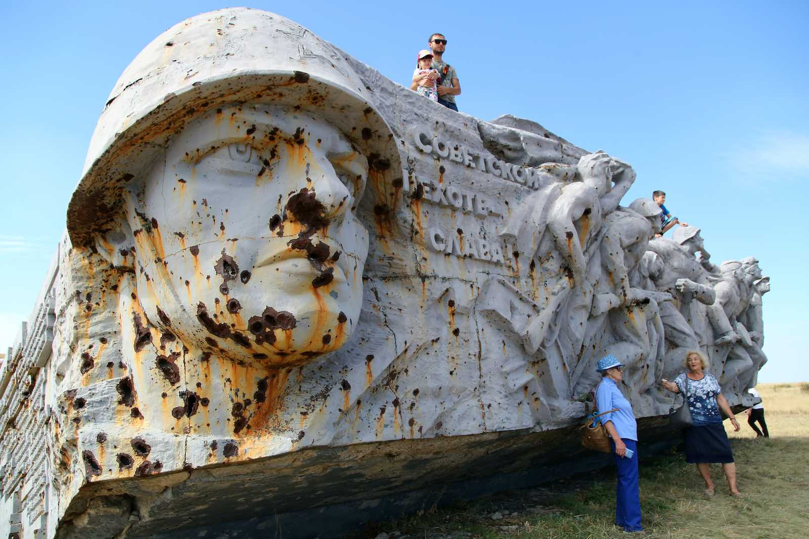 A war memorial at Savur-Mohyla Height marking the liberation of the Donbass region from Nazi invaders in the Second World War (Valentin Sprinchak/TASS via Getty Images)