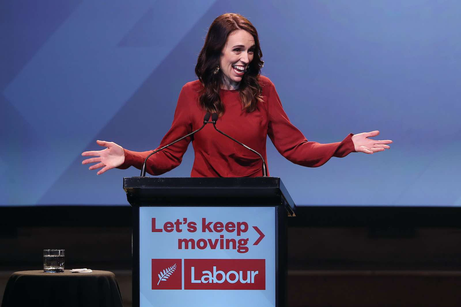 New Zealand Prime Minister Jacinda Ardern's Labour party won an outright majority, the first time any party has achieved such a result since 1996 (Michael Bradley/AFP via Getty Images)