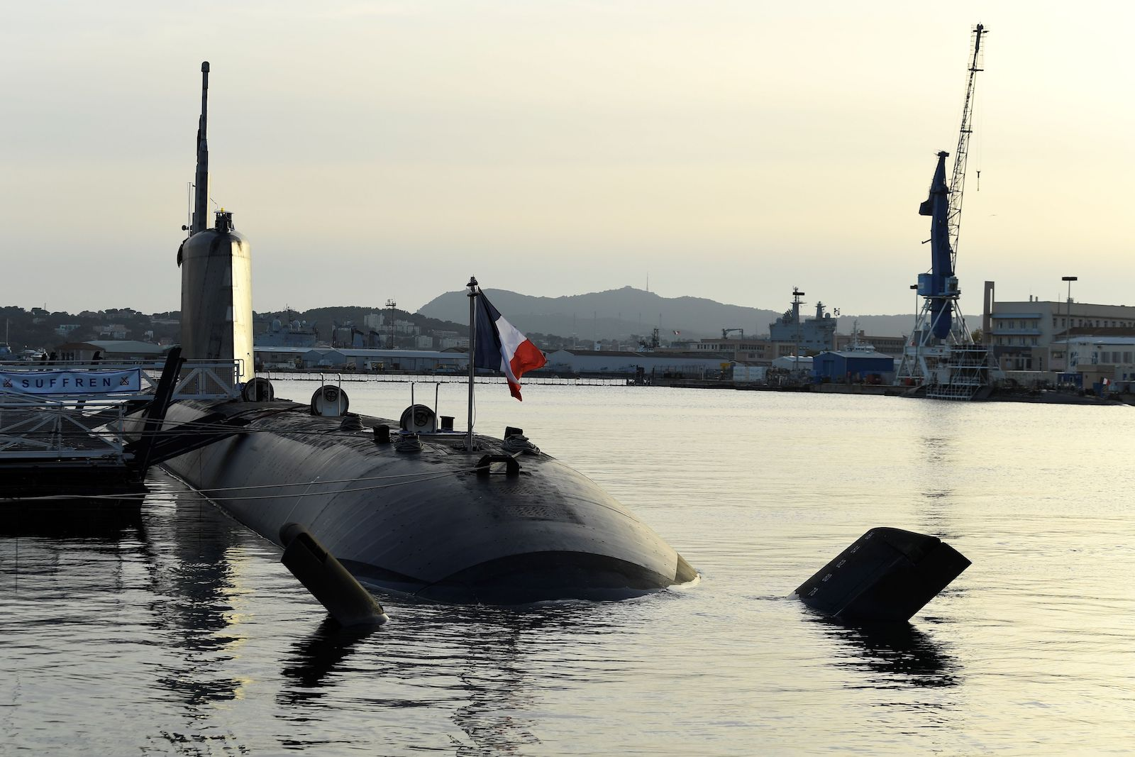 The French navy Barracuda class nuclear attack submarine Suffren docked in Toulon's harbour: Australia had contracted to build 12 diesel-powered variants (Nicolas Tucut/AFP via Getty Images)