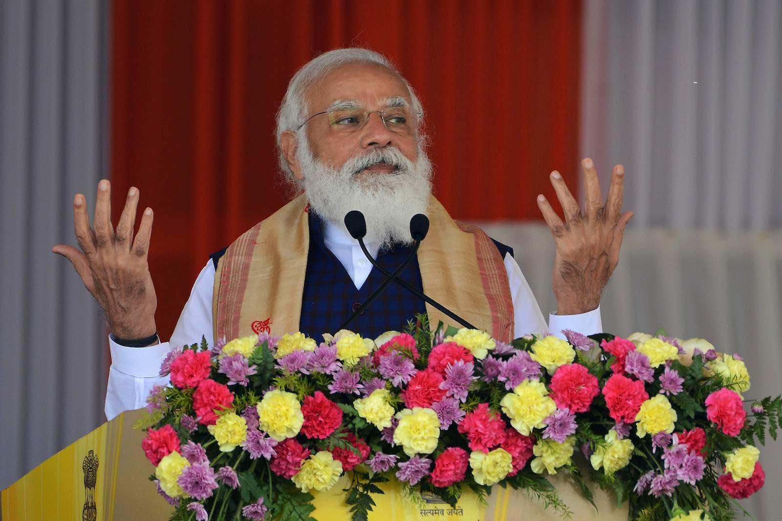 "Australian confidence has fallen in India's Narendra Modi to ""do the right thing regarding world affairs"" (Biju Boro/AFP via Getty Images)"