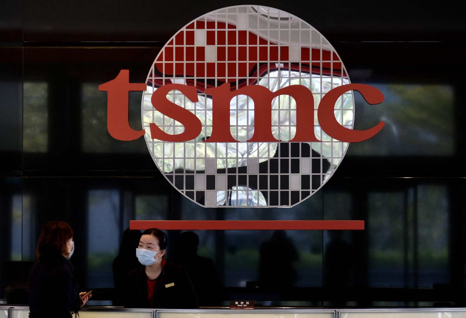 Employees work at the headquarters of the world's largest semiconductor maker TSMC in Hsinchu, Taiwan (Sam Yeh/AFP via Getty Images)