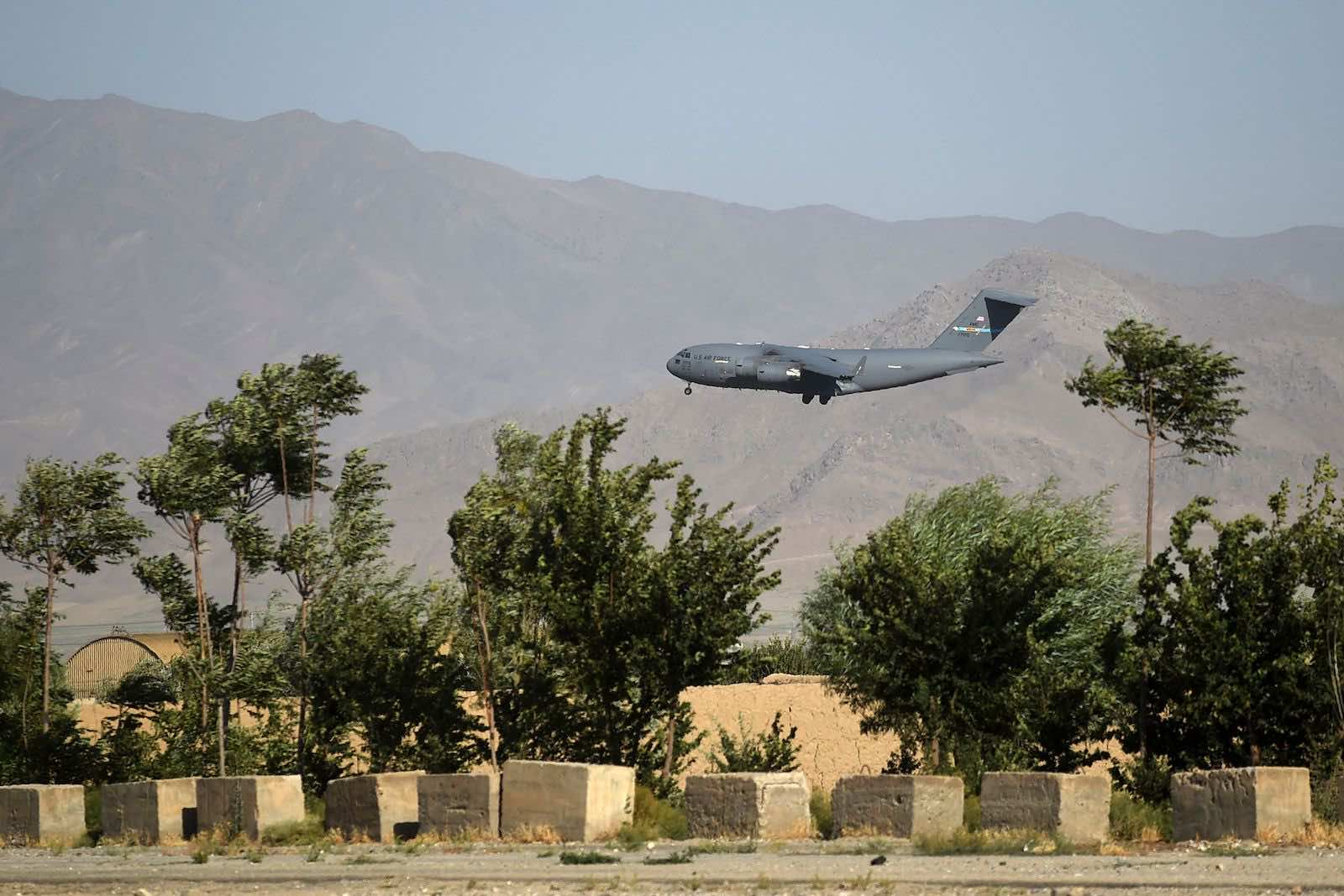 Bagram Air Base, Afghanistan, on 1 July 2021, just before it was abandoned by US forces (Wakil Kohsar/AFP via Getty Images)