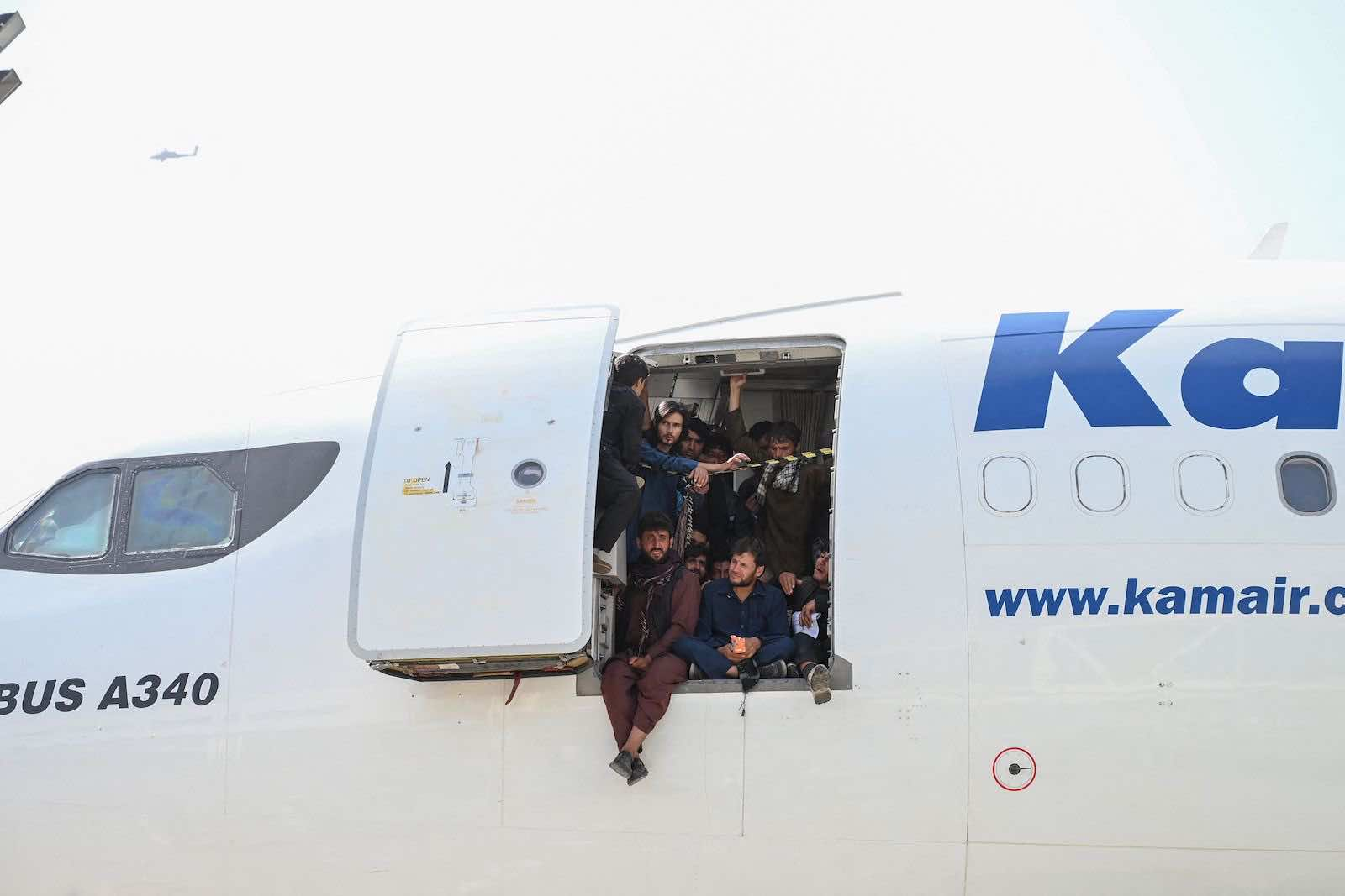 This is what desperation looks like: Kabul airport in Kabul on 16 August (Wakil Kohsar/AFP via Getty Images)