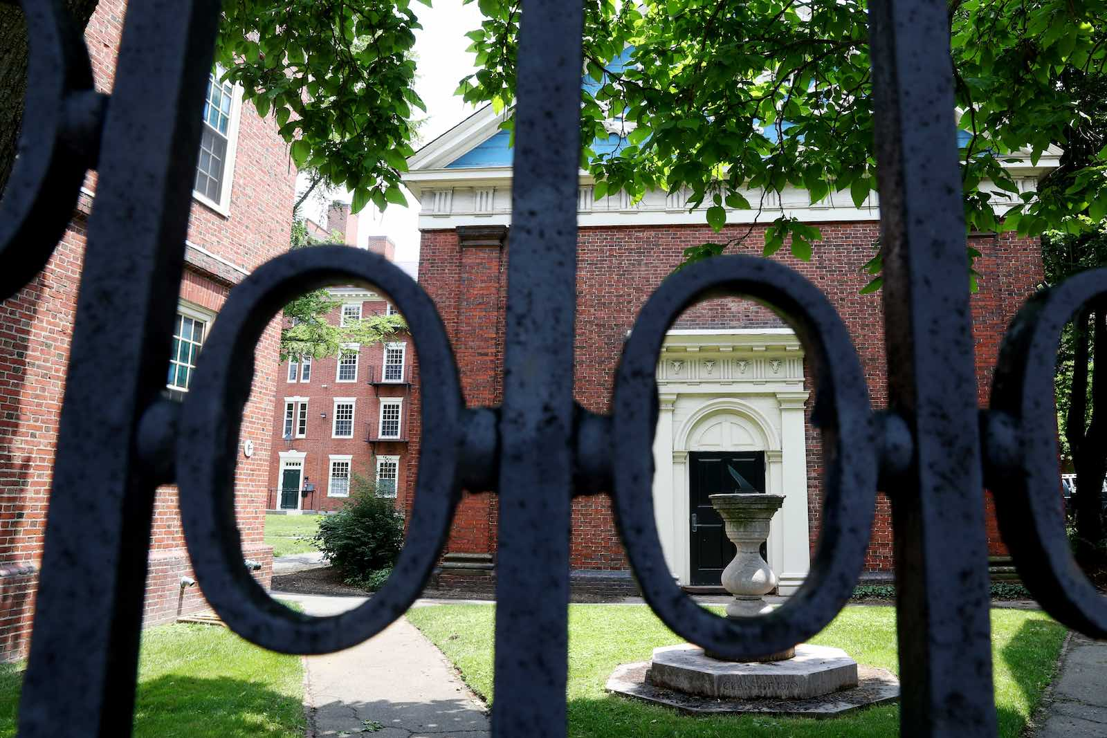 Harvard University campus: the Trump administration has announced foreign students whose classes are conducted online in the coming semester will no longer be eligible to stay in the United States (Maddie Meyer/Getty Images)